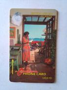 BVI Phonecard US$10 18CBVB Woman On Phone