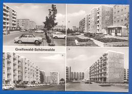 Deutschland; Greifswald Schönwalde; Multibildkarte Mit Maxim Gorki Str., Tolstoistrasse - Greifswald