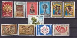 Andorre Espagnol 1973 1974 Année Complète 77 à 87   Neuf ** MNH Sin Charmela Cote 20 - Neufs