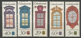 TCHECOSLOVAQUIE N° 2200 à 2204 NEUF** LUXE SANS CHARNIERE / MNH