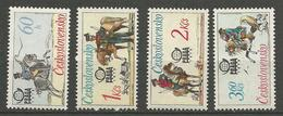 TCHECOSLOVAQUIE N° 2213 à 2216 NEUF** LUXE SANS CHARNIERE / MNH