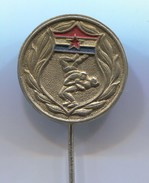 Wrestling, Ringen - Federation Croatia ( In Yugoslavia ), Vintage Pin Badge, Abzeichen - Wrestling