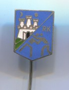 Wrestling, Ringen - RK ZAGREB Croatia, Vintage Pin Badge, Abzeichen, Enamel - Wrestling