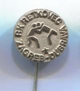 Wrestling, Ringen - RK RETKOVEC, ZAGREB Croatia, Vintage Pin Badge, Abzeichen - Wrestling