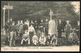 CPA Vosges- Environs De FRAIZE  - Le Col De Bonhomme - Les Auvernelles- Douane Groupe  Recto Verso -- Paypal Sans Frais - Fraize