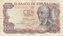 Espagne - Billet De 100 Pesetas - 17 Novembre 1970 - Manuel De Falla - [ 3] 1936-1975 : Régence De Franco