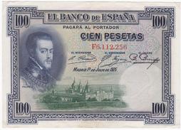 Espagne - Billet De 100 Pesetas - 1er Juillet 1925 - Felipe II - [ 1] …-1931 : First Banknotes (Banco De España)