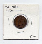 Stati Uniti - 1 Centesimo - 1891 - (FDC4498) - Stati Uniti