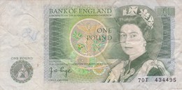Grande-Bretagne - Billet De 1 Pound - Elizabeth II - 1952-… : Elizabeth II