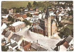 Marbaix-la-Tour - Le Centre Avec L'Eglise - Vue Aérienne - Photo Véritable - Ham-sur-Heure-Nalinnes