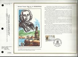 N° : 895 S DU CATALOGUE CEF. N°: 716 / SOIE . LA BOURDONNAIS . 20 FEVRIER  1988 . ST MALO . - FDC