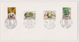 Enveloppe Cover Brief 1610 à 1613 Insectes Lederberg Mechelen Saint-Hubert Tamines - Bélgica
