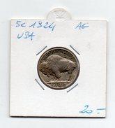 Stati Uniti - 5 Centesimi - 1924 - Buffalo - Argento - (FDC4500) - Stati Uniti