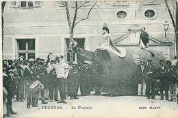 Pézenas - La Fête Du Retour Organisée Par Les Machous: Le Poulain - Edition Marty - Carte Non Circulée - Carnaval