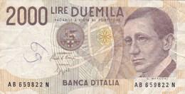 Italie - Billet De 2000 Lire - G. Marconi - 3 Octobre 1990 - [ 2] 1946-… : Républic