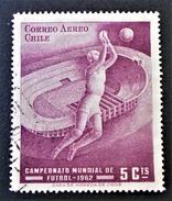 COUPE DU MONDE DE FOOT 1962 - OBLITERE - YT PA 210 - Chili