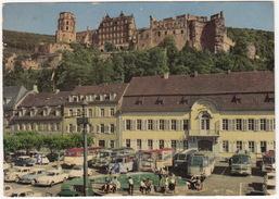 Alt Heidelberg: VW 1500, 1200 KÄFER/COX, DKW F12 & 2x 1000, 7x MERCEDES O REISEBUS - Karlsplatz - (D.) - Voitures De Tourisme