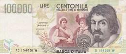 Italie - Billet De 100000 Lire - Caravaggio - 6 Mai 1994 - [ 2] 1946-… : Républic