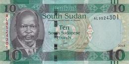 SOUTH SUDAN 10 POUNDS 2015 P-7b UNC GREEN [SS110a] - Zuid-Soedan