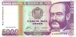 PERU 5000 INTIS 1988 P-137 UNC  [ PE137 ] - Peru