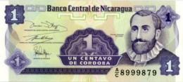 NICARAGUA 1 CENTAVO ND (1990) P-167 UNC PREFIX A/C [NI461a] - Nicaragua