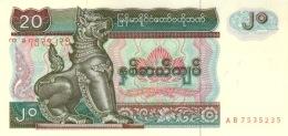 MYANMAR 20 KYATS ND (1994) P-72a UNC [MM106a] - Myanmar