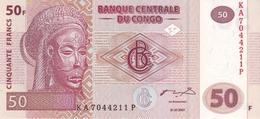 CONGO DEMOCRATIC REPUBLIC 50 FRANCS 2007 P-97 UNC PRINTER GIESECKE & DEVRIENT [ CD319a ] - Congo