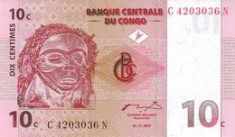 CONGO DEMOCRATIC REPUBLIC 10 CENTIMES 1997 P-82 UNC [ CD303a ] - Congo