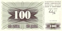 BOSNIA & HERZEGOVINA 100 DINARA 1992 P-13 UNC [BA013] - Bosnia And Herzegovina