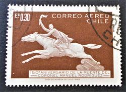 POSTE AERIENNE 1969 - OBLITERE - YT PA 258 - Chili