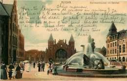 ALLEMAGNE 070517 - HAMBURG - ALTONA - Stuhlmannbrunnen Mit Bahnhof 1903 - Altona