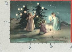 CARTOLINA NV ITALIA - BUON NATALE - Angeli Con Candele - SAEMEC Edizioni - 10 X 15 - Natale