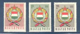 (S1615) HUNGARY, 1958 (Coat Of Arms). Complete Set. Mi ## 1528-1530. MNH**