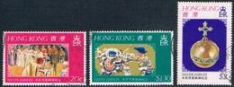 Hong Kong - 25e Anniversaire De L'accession Au Trône D'Elizabeth II 325/327 Oblit. - Hong Kong (1997-...)