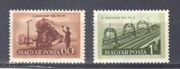 (S1616) HUNGARY, 1952 (Railroad Day). Complete Set. Mi ## 1261-1262. MNH**