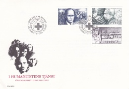 Sweden FDC 1997 Humanitarian Service - Thin Spot Or Glue Remainder On Back (T16-23) - FDC