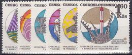 ** Tchécoslovaquie 1970 Mi 1970-5 (Yv 1814-9), (MNH)