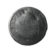 50 Centimes Napoléon III, Tête Laurée 1868 Strasbourg - France