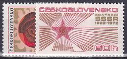 ** Tchécoslovaquie 1972 Mi 2103-4 (Yv 1953-4), (MNH)