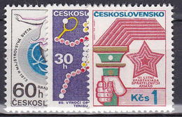 ** Tchécoslovaquie 1973 Mi 2121-3 (Yv 1966-8), (MNH)