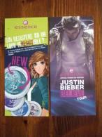 Essence Cosmetic Justin Bibier Lot De 2 Billet Differentes - Perfume Cards