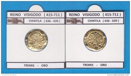 REINO VISIGODO  CHINTILA (636-639)  TREMIS   -   ORO    SC/UNC  Réplica   DL-11.388 - Other Ancient Coins