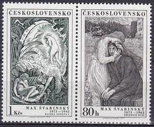 ** Tchécoslovaquie 1973 Mi 2162-3 ZS (Yv 2007-8), (MNH)