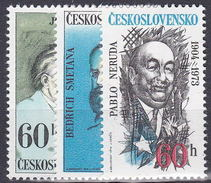 ** Tchécoslovaquie 1974 Mi 2180-2 (Yv 2025-7), (MNH)