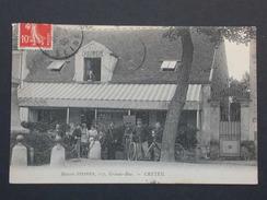 Ref5693 AB CPA Animée Créteil Maison Steffen 117 Grande Rue A La Chaumerie Bières De L'Espérance - Vins Restaurant 1908 - Creteil