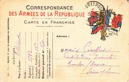 Carte De Correspondance Avec TàD TRESOR ET POSTES 170 Du 25.4.16 Adressée à Toulon Sur Arroux - Marcophilie (Lettres)