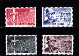 LUXEMBOURG - 1947 - GENERAL PATTON - **/MNH - Mi 424/27  Yv 398/401   Sc 242/45 - Luxembourg
