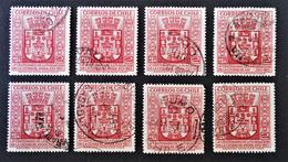 VILLE D'ANGOL 1954 - OBLITERES - YT 246 - MI 490 - VARIETES D'OBLITERATIONS - Chile