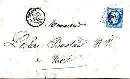 FRANCE. N°14 Sur Lettre De 1861. De Marans à Destination De Niort. - 1853-1860 Napoléon III