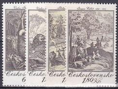 ** Tchécoslovaquie 1975 Mi 2240-3 (Yv 2083-6), (MNH)